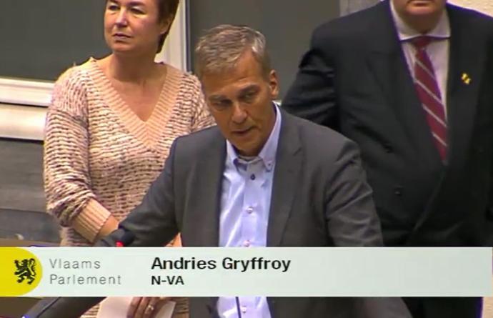 Andries Gryffroy Plenaire vergadering Tommelein Vlaams Parlement